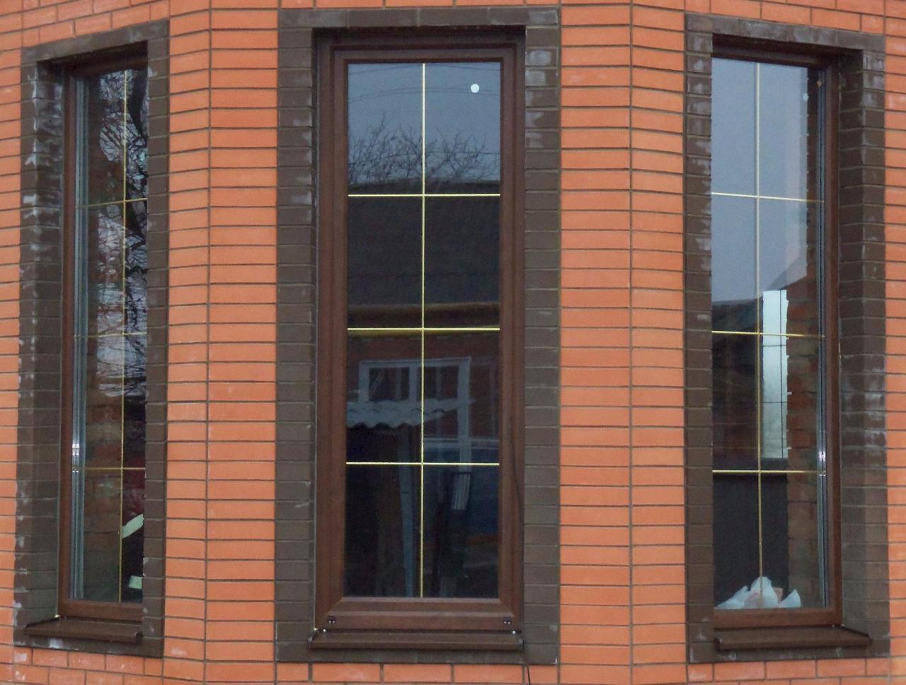Коричневые окна с золотистой раскладкой фото фолловеры ольги
